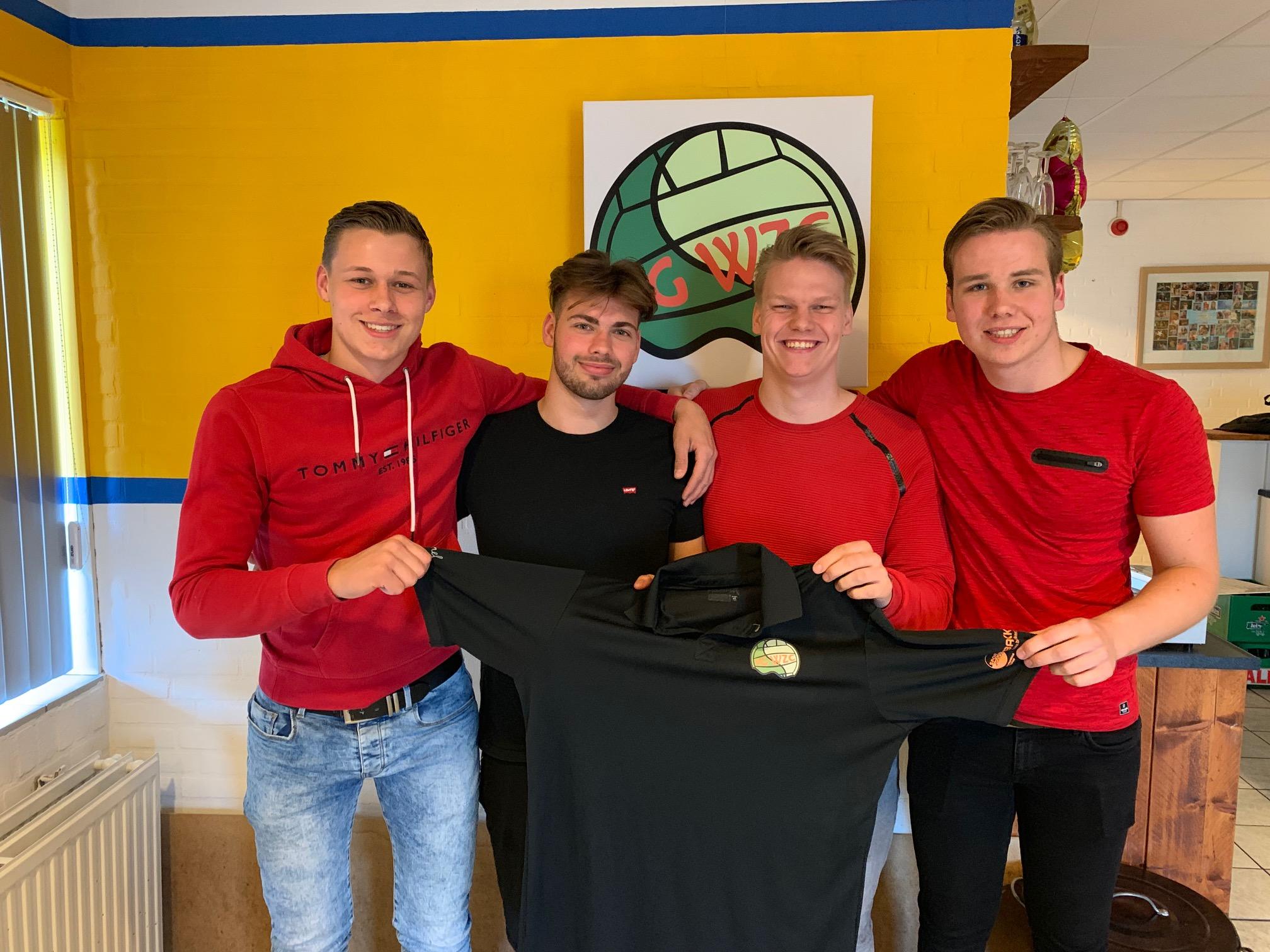 V.l.n.r Thijs, Boy, Cas en Mika